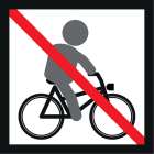 <strong> No bicycle riding please.</strong><br>Bicycling is a great way for children to move around. It extends the radius of action, new areas are opened up and discovered. However, riding a bicycle on a playground is not without danger. On the one hand, it is more likely to fall due to the sand or other loose material on the ground, on the other hand the risk of a collision with other children also is very high. A playground is not an obstacle course. In addition, dismounting spontaneously from the bike, in order to use a playground device is probable. If the bicycle helmet is not taken off, there is a high risk of strangulation. Please use the designated paths for cycling. This avoids anger and strife. The playground remains a place for everyone and a place for undisturbed playing.