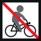 """<strong> Будь ласка, не катайтеся на велосипеді.</strong><br>Їзда на велосипеді - відмінний спосіб пересування для дітей. Завдяки йому розширюється радіус дій, відкриваються і освоюються нові території, проте це не так вже й небезпечно: з одного боку, через піскок і спеціальне амортизуюче покриття збільшується ймовірність падіння з велосипеда, а з іншого - підвищується ризик зіткнення з іншими дітьми. Дитячий майданчик - це не """"парк з перешкодами"""". Крім того, дитина може раптово злізти з велосипеда і переключитися на інші ігрові споруди. Якщо при цьому вчасно не зняти велосипедний шолом, зростає ризик удушення. Будь ласка, щоб уникнути суперечок з іншими відвідувачами, використовуйте спеціальні доріжки для їзди на велосипеді. Дитячий майданчик призначений для безпечних і різноманітних ігор."""