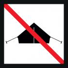 <strong> Пожалуйста, не ставьте палаток.</strong><br>Игровая площадка - это место для игр и развития различных навыков. Здесь тренируются, бегают и играют. Кемпинг выглядит по-другому: люди отдыхают в спокойной и непринуждённой обстановке, везде предусмотрено наличие веревок и колышек для крепления тентов. Как не разрешается играть в мяч в любом месте кемпинга, также не разрешается и разбивать лагерь в любом месте игровой площадки. Пожалуйста, ради Вашего же спокойствия, ставьте свою палатку в специально отведенных для этого местах, и учитывайте тот факт, что детская площадка - это место для игр.