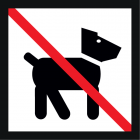 """<strong>No dogs on the playgroud please.</strong><br>Dogs and cats are good companions and often the best friends of man. But not everyone knows your pet as well as you: Some people even are afraid of animals. Small children still lack the experience and they consider a foreign four-legged friend as a """"cuddly toy"""". Not every animal can handle this and trying to defend itself, it may bite. Please respect that this place is designed for children to play. Please stay away from the playground with your four-legged friend. This would help to avoid anger and strife."""