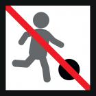 <strong> Будь ласка, не грайте у футбол.</strong><br>Футбол - це приємний спосіб провести дозвілля для багатьох дітей. Хто ж хоч раз не мріяв стати відомим футболістом? Боротьба за м'яч може проходити досить голосно і при цьому він вилітає на всі боки, що може бути неприємним для інших відвідувачів дитячого майданчика. Будь ласка, використовуйте для гри в футбол спеціально обладнані для цього місця, де є достатньо місця. Таким чином Ви зможете насолодитися грою та не будете заважати іншим відвідувачам.
