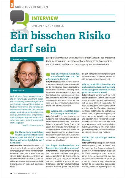 FM – Flächenmanager: Interview: Spielplatzkontrolle – Ein bisschen Risiko darf sein