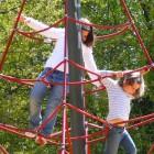 Lea und Isabelle am Netz